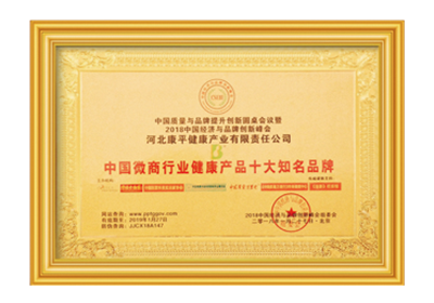 中国微商行业健康产品十大知名品牌